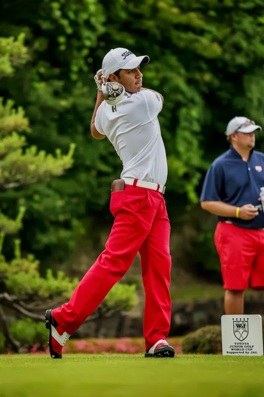 Aaron Terrazas, junior golfer at IJGA, leads Team Mexico at the Toyota Junior Golf World Cup