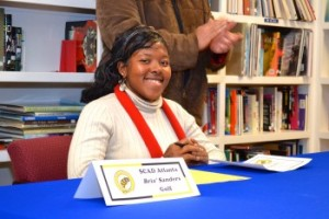 Bria` Sanders signs with SCAD Atlanta