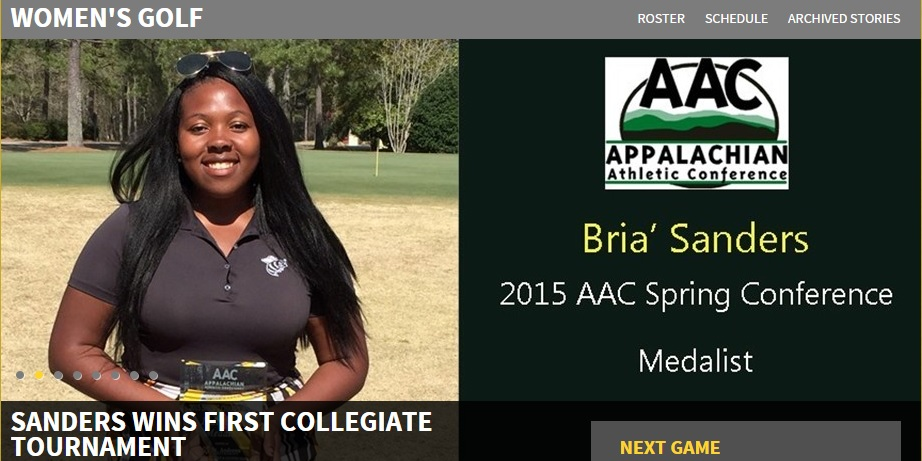 Bria Sanders first win college