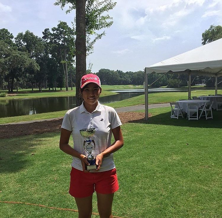 Haruka had back-to-back top-two finishes in Hurricane Junior Golf Tour events!