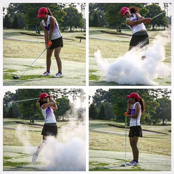 Golf course hijinks: exploding golf ball!