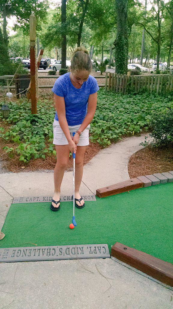 Working on (putt) putting