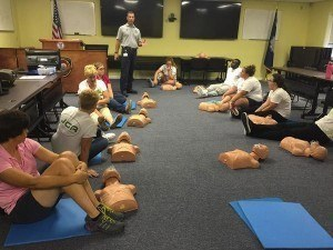 The student life team completed in First Aid and CPR training last week