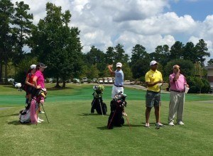 Campers prepare to play a scramble