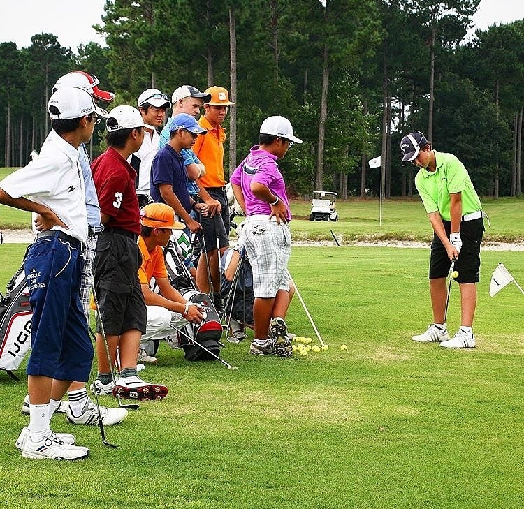 Campers engage in a skills competition