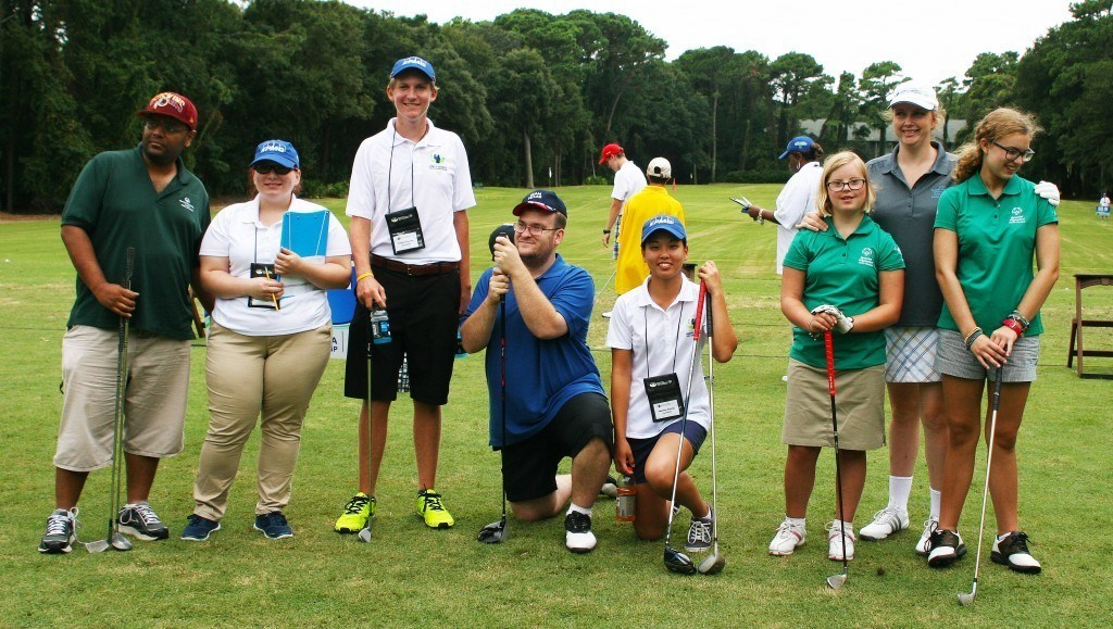 Special Olympics North America Golf Invitational Colton Tanner Melany Chong