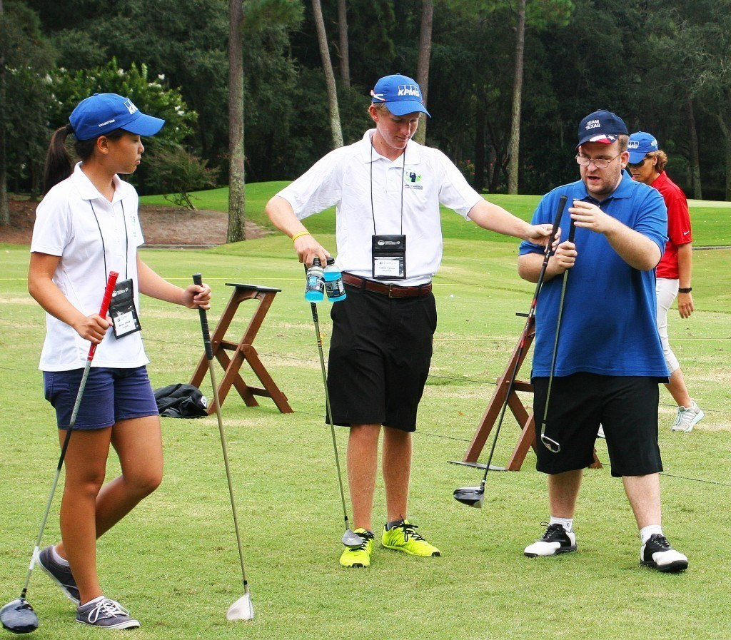 Melany Chong Colton Tanner Special Olympics North America Golf Invitational