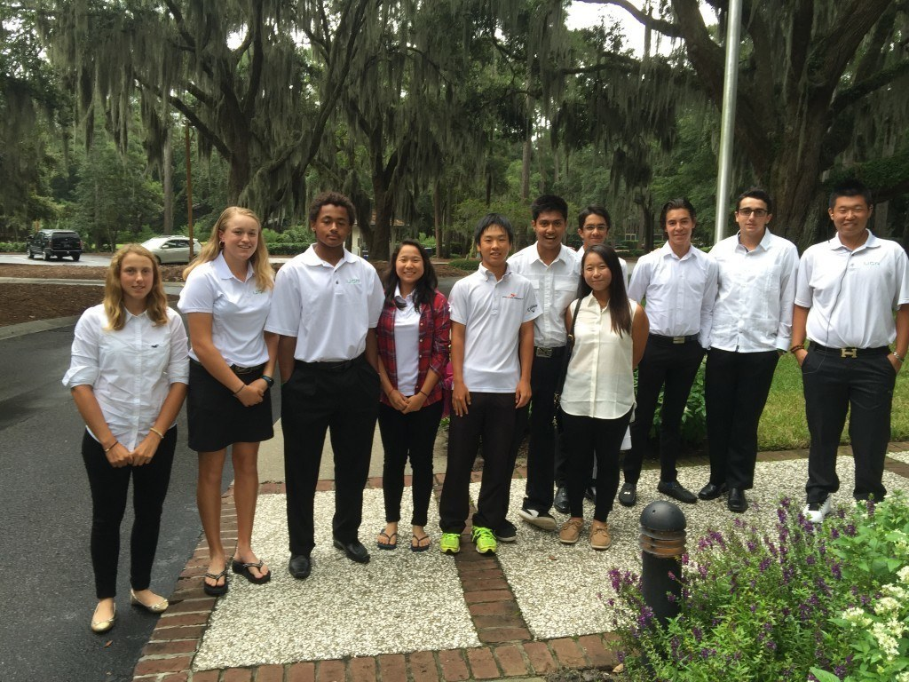 IJGA students arrive at the Programs for Exceptional People fall gala