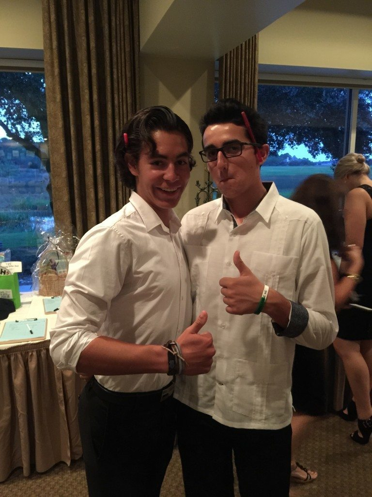 Alex Guillen and Santiago Diaz give the thumbs up during the fall gala