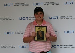 Noah Levine poses with his trophy