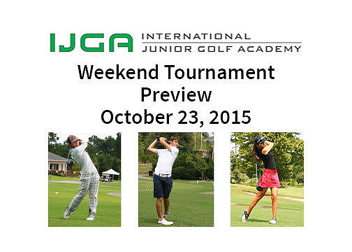 Weekend Tournament Preview October 23