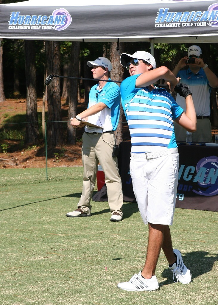 Jose Chavez tees off during the Low Country Jr Shootout