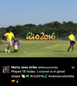 Uribe took on the challenge Gil Hanse designed for these Olympians in a practice round.