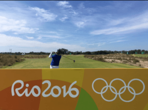 Those blue skies in Rio create some awesome #Views for Feng during her practice round.