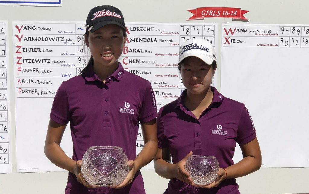 BGGA's Siyan Chen wins Florida Junior Tour at The Forest CC