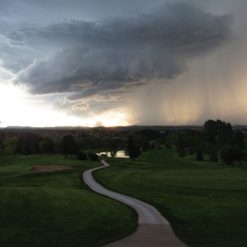Severe Weather Near a Golf Course